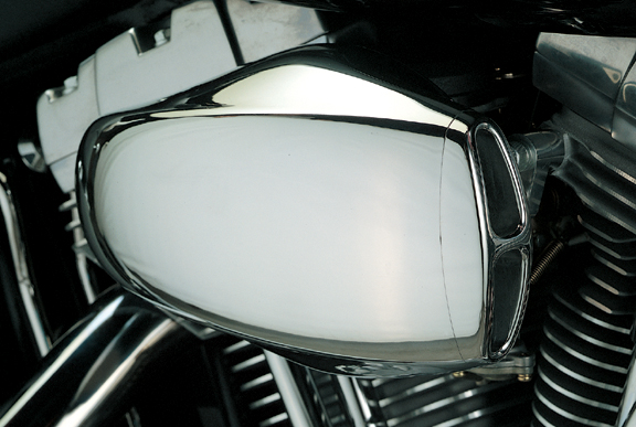 Motorcycle Air Cleaner Covers : D corsa chrome air cleaner
