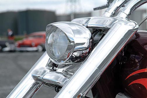 3d lux custom motorcycle headlight