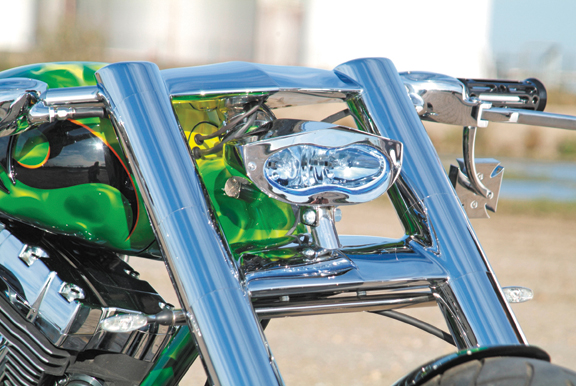 3d xtrm custom motorcycle headlight