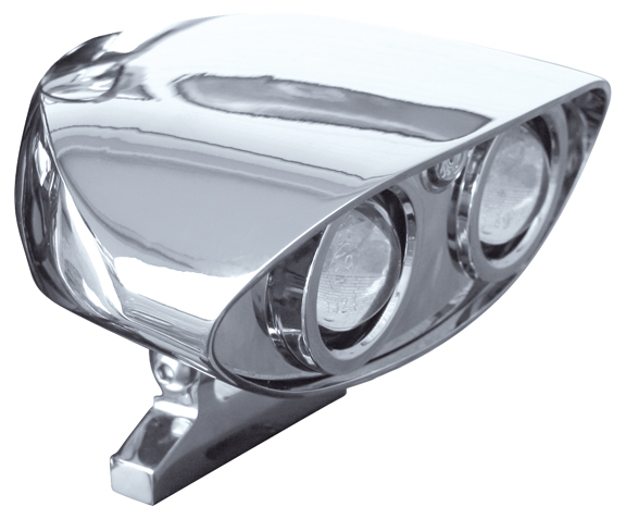 alien chrome headlights with mount