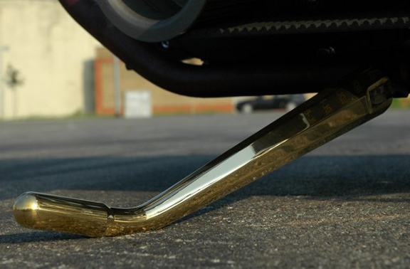 brass motorcycle kickstand
