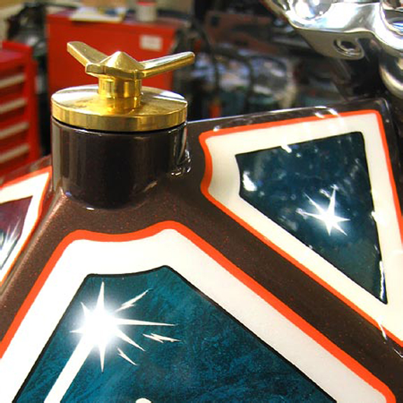 brass spinner chopper custom gas cap