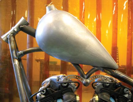 brass spinner chopper custom gas cap for weld-in tanks