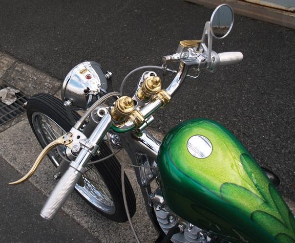 de luxe brass motorcycle hand controls 1