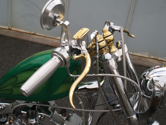de luxe brass motorcycle hand controls 2