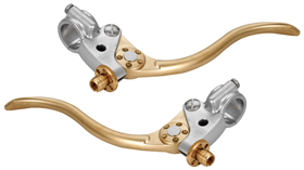 De Luxe Retro Cable Motorcycle Hand Controls Aluminum and Brass