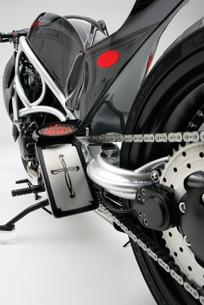 ice taillight and side license mount for v rod