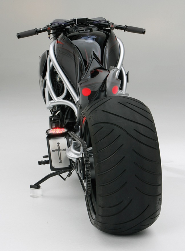 Ice Motorcycle Led Tail Lights And Side License Mount