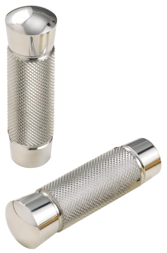 knurled aluminum grips