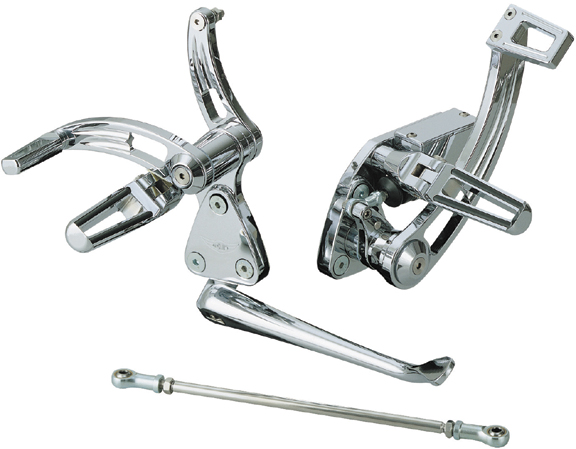 nail motorcycle forward control with race pegs for twin cam softails
