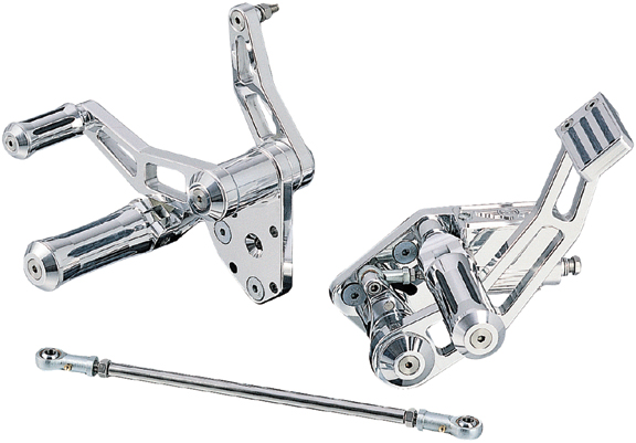 Race Motorcycle Forward Control with Custom Pegs for up to 1999 Softails and Dynaswith custom pegs for up to 1999 softails and dynas