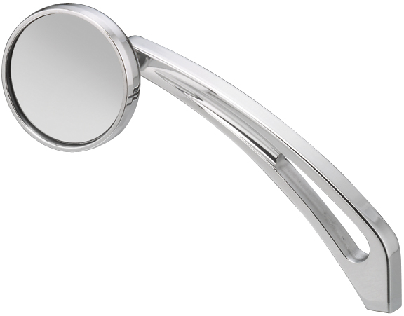 round custom motorcycle mirrors with nail stem