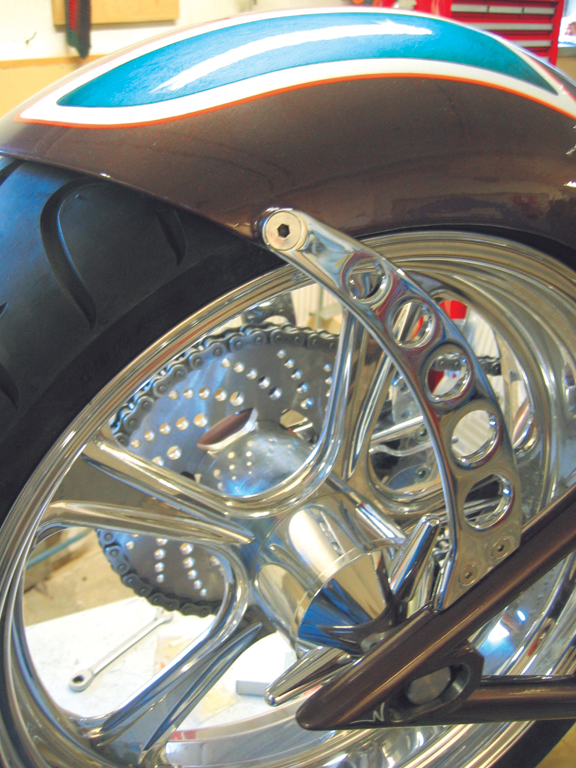 motorcycle wheel spinner