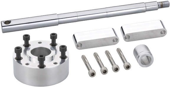 wide glide wheel axle & spacers conversion kit