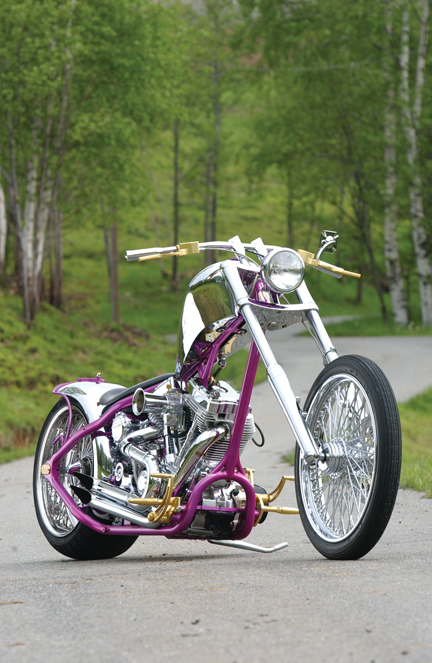 chrome custom chopper