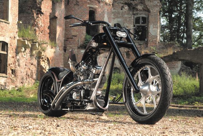 gothic custom chopper