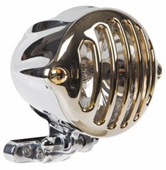 Alcatraz Brass Motorcycle Headlight