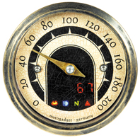 Vintage Mini Motorcycle Speedo