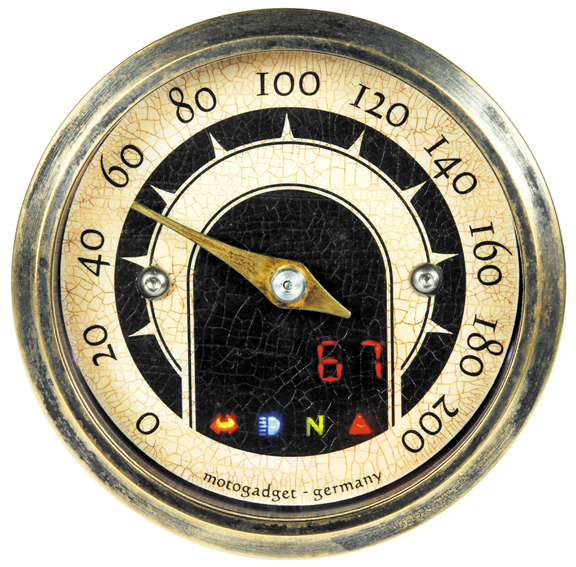 mini motorcycle speedo vintage
