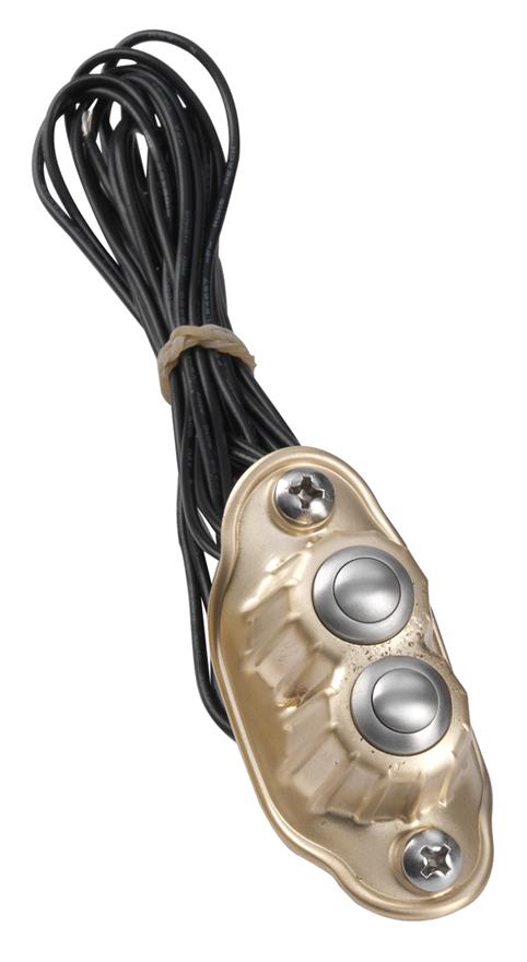 de luxe brass dual push buttons 2