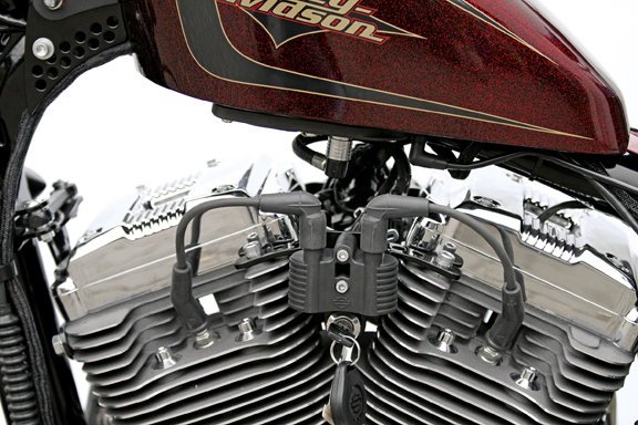 ignition and coil relocation bracket for sportster 3