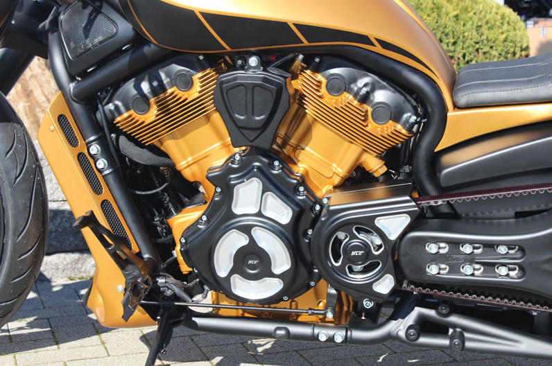 Night Rod Engine And Transmission Covers on Motorcycle Engine Parts