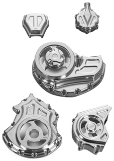 Cut-Out Engine and Transmission Covers for V-Rod Muscles – Complete Kit