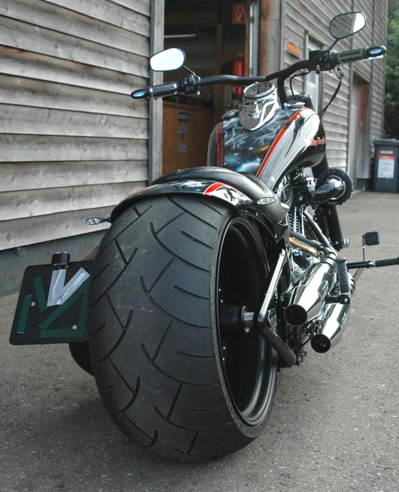 300 tire swingarm for harley-davidson twin cam fat boy