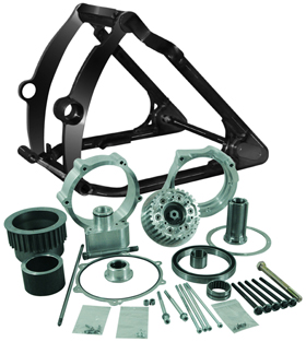 280 Tire / 300 Tire Motorcycle Swingarm Conversion Kits for 2014-up Twin Cam Softails