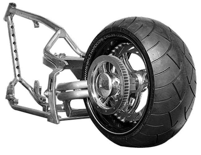 330 tire harley frame 2