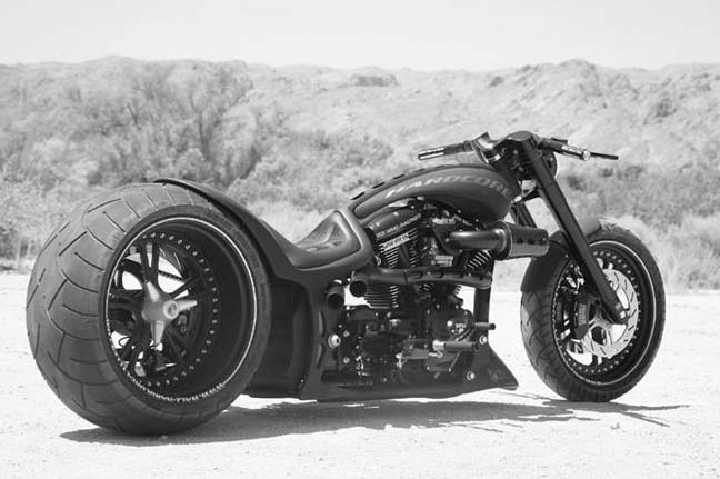 330 tire harley frame 22