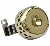 aircleaner cover classic for twin cam engines (carburator and EFI) brass polished