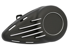 aircleaner cover unbreakable for evolution engines with OEM CV carb black with CNC machined details