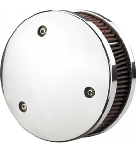 aircleaner round for s&s carb chromed