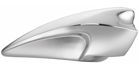 aircleaner wing for evo big twin 93-99 with s&s carb chromed
