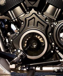 alternator cover with cut-outs for v-rod's - black