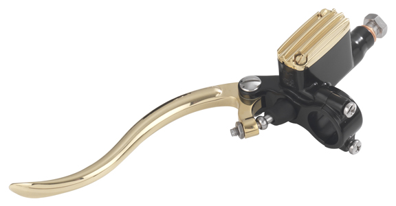 black and brass harley hydraulic clutch