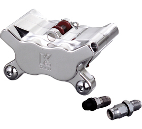 caliper 4-piston front left right polished