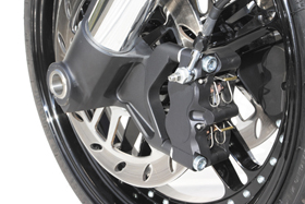 caliper RS 4-piston radial left black for RS fork