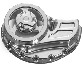 clutch cover with cut-outs for v-rod muscle's - polished