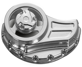 clutch cover with cut-outs for v-rod's, night-rod's, street-rod's - polished