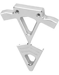 coil bracket diamond cut-out chromed