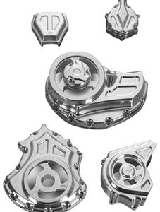 complete engine and transmission cut-out covers kit for v-rod muscle's - polished