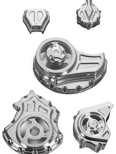 complete engine and transmission cut-out covers kit for v-rod's, night-rod's, street-rod's - polished
