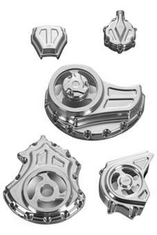 complete engine and transmission cut-out covers kit for v-rod's, night-rod's, street-rod's – polished