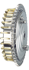 drum brake kit with brass fins
