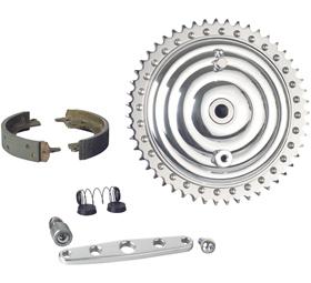 drum brake kit with chromed fins