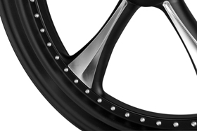extra charge for black anodized wheel with CNC machined details