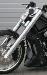 fork 3D cobra for v-rods - polished