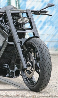 fork 3D xtrm black for v-rods